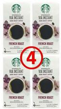 starbucks via FRENCH roast 32 pouches (4 x 8 ct) instant coffee FRESH!