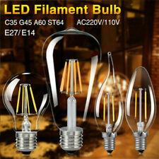 E27 E14 4/8/12/16W Vintage Filament 220V Light Candle Globe Edison Bulb LED Lamp