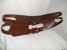 Dolce & Gabbana Brown Leather Belt Medium to Large