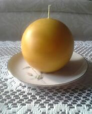 "Natural Handmade 100% Beeswax Candle - 4"" ball"