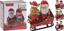 Santa's Sleigh Ceramic Salt and Pepper Set - Father Christmas and Friends