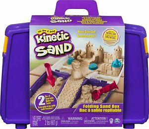 Kinetic Sand with Folding Sand Box Carry Case Play Moulding Sand NEW