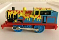 THOMAS MAKES A MESS Paint Splattered Trackmaster Motorized Railway Train