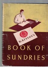 McKesson's Book of Sundries 1942-43 Catalogue Medical Supplies Home Goods
