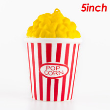 Kawaii Squishy Jumbo Popcorn Cup Slow Rising Cream Scented Strap Food Simulation