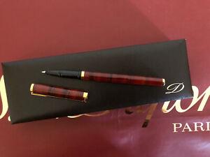 S.T. Dupont Kugelschreiber mit Schutzkappe Box Vintage Chinalack Tigerauge - Neu