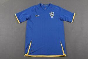 BRAZIL NATIONAL TEAM 2008/2009/2010 AWAY FOOTBALL SHIRT JERSEY NIKE JUNIOR XL
