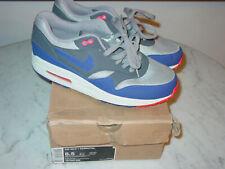 2012 Nike Air Max 1 Essential Medium Grey/Ultramarine/Dark Grey Shoes! Size 8.5