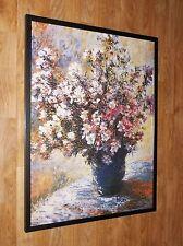 VASO di fiori-CLAUDE MONET Wall Art, INCORNICIATO 60x80cm, VINTAGE poster Monet