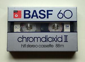 1x BASF chromdioxid II 60 Cassette Tape 1982 + OVP + SEALED +