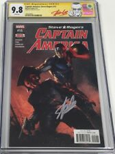 Captain America Steve Rogers #15 Dell'Otto Cover Signed by Stan Lee CGC 9.8 SS