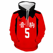 Haikyuu!! Nekoma High School NO.5 Kenma Kozume Team Hoodie Pullover Jacket