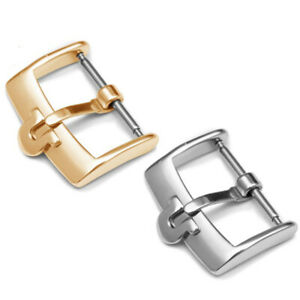 New Stainless Steel Tongue Clasp Pin Buckle For Omega Leather Rubber Strap Band