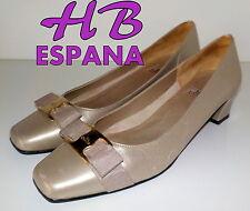 "Fabulous ""HB ESPANA"" Gold  Leather  Pumps  Shoes  UK 6.5   EU 40  £125"