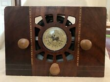 New ListingAntique Rca Standard/Short Wave Radio Solid Wood Unrestored For Parts or Repair