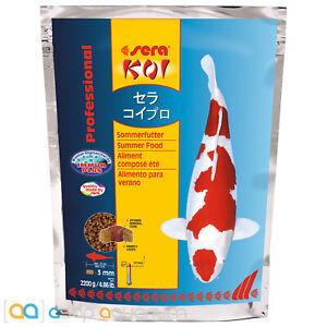 sera Koi Professional Summer Food 2200 grams 3mm Pellets Koi Fish Food