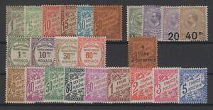 W129697/ MONACO / POSTAGE DUE / LOT 1905 – 1925 MNH & MH - CV 170 $