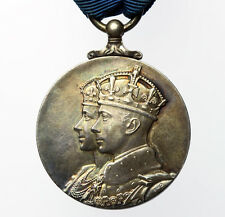George VI Coronation Medal 1937 Silver - Official Issue