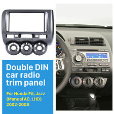 2Din Car Radio Fascia Panel for Honda Fit Jazz Manual A/C Left Wheel 2002-2008