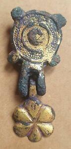 Complete Medieval Gold gilt Horse Harness Pendant