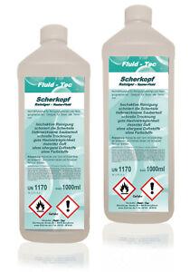 2 L Scherkopfreiniger für Braun Reinigungsstation Reinigungskartuschen Fluid-Tec