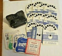 Vintage Sawyers View Master  Viewer And 13 Reels Plus 5 Booklets 1940's-50's