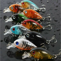 5pcs Fishing Lures Crankbaits Treble Hooks Baits Tackle Bass Minnow Random Send