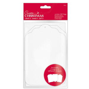 9 Jumbo White Card Gift Tags for Gift Wrap