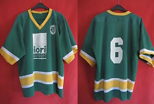 Maillot Hockey HTM Porté n° 6 Iori Plaster Drywall Vert Sport Vintage - L