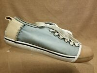 Sorel Women Blue Sentry Sneakers Canvas Capped Toe Athletic Gym Tennis Shoes 9