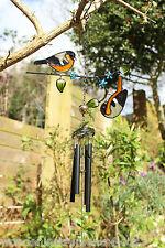 Campanas de viento con Jardín Aves de metal y vidrio Campanas De Viento Móvil herrerillo tema