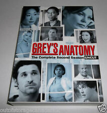 Grey's Anatomy - Season 2: Uncut (DVD, 2006, 6-Disc Set)