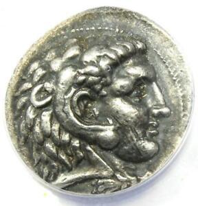 Alexander the Great III AR Tetradrachm Silver Coin 323-317 BC - ANACS VF35