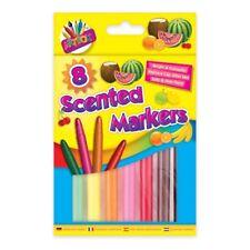 8 x Scented Marker Set Smell Fibre Pens Novelty Stationery