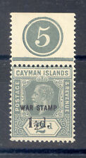 CAYMAN ISLANDS  WAR TAX  CONSTANTVARIETY SHORT 1 IN 1/2 ON OVERPRINT PLATE 5 MNH
