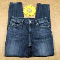 Chico's So Slimming Womens Girlfriend Ankle Jeans Size 0 (4) Blue Denim es1341
