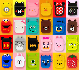 NEW DESIGN - Airpods Case Silicone Iconic Cartoon Character