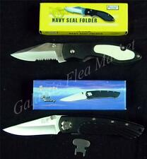 Frost Cutlery Navy Seal and Barracuda Locking Folding Knife Set ***New***