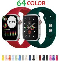38/42/40/44mm Silicone Sports Band iWatch Strap for Apple Watch Series