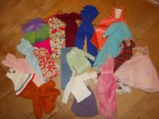 VTG Handmade Mixed of of 18 Pieces Clothing for Barbie Doll
