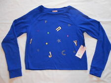 New Juicy Couture Womens Blue Embellished Cropped Sweatshirt Size S  Orig $48