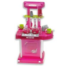 "Portable Kitchen Appliance Oven Cooking Play Set With Lights & Sound 26""  Pink)"