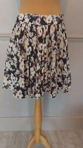 Reiss full skirt UK 12 water colour/abstract swing pockets lightweight lined
