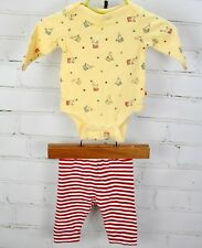 BABY GAP Outfit Set Circus One Piece Romper Bodysuit & Pants Newborn Boys 0-3 M
