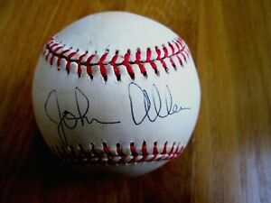 JOHN ALLEN (ex Reds President) Redsfest Signed NL Baseball -Guaranteed Authentic