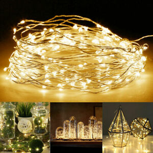 30/50/100 LED Battery Copper Wire Fairy String Lights Home Party Wedding Xmas