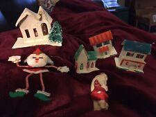Vintage Christmas Bundle-Putz, Chalkware