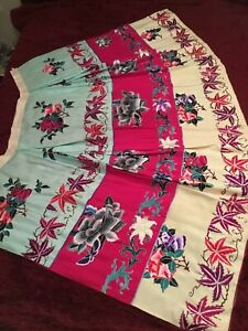 VINTAGE EARLY/ MID 20th c CHINESE EMBROIDERED SILK SKIRT, FINE EMBROIDERY #3!