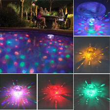 Underwater Disco Aqua Glow LED Floating Night Light Show Pond Pool Spa Tub Lamps