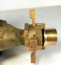 "Water Meter Yoke Expansion Connection Wheel for 5/8"" x 1/2"" Meter, Nl Brass"